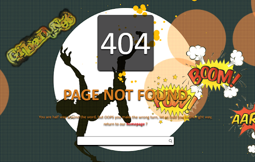 Error Page 404 Falling Zombie