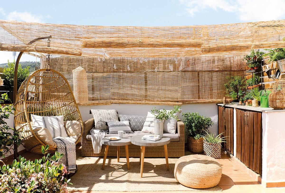 Decoraci n f cil antes y despu s de una terraza abandonada - Como cubrir una terraza ...