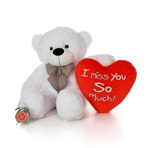 Big White I Miss You So Much Teddy Bear Image