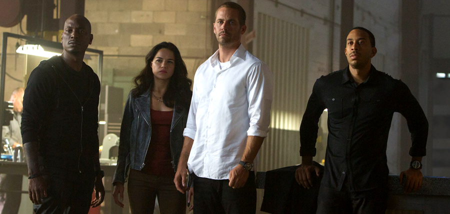 Tyrese Gibson, Michelle Rodriguez, Paul Walker şi Ludacris în FURIOUS 7