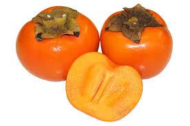 Orange persimmons from the garden.