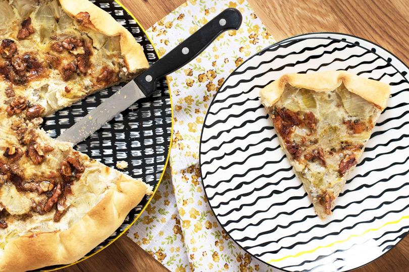 recette Tarte endives noix et roquefort