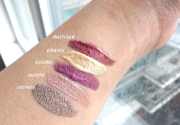 Dior fall 2015 limited edition - Dior Addict Fluid Shadow liquid metallic eyeshadows swatches