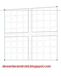 cara membuat logo windows 8 dengan coreldraw x4