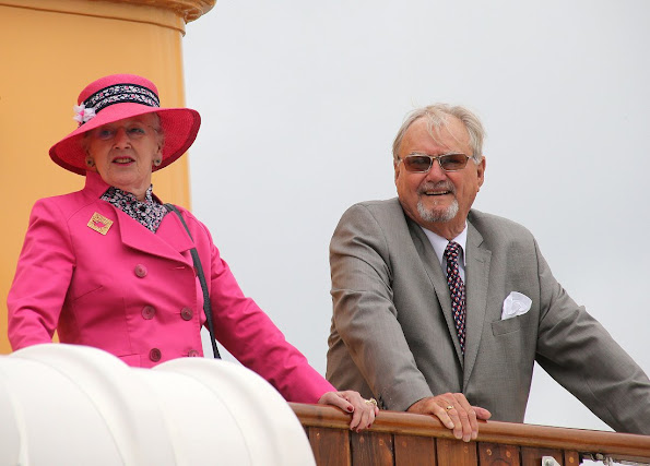 Queen Margrethe and Prince Henrik, sail to Aarhus for their annual summer holiday