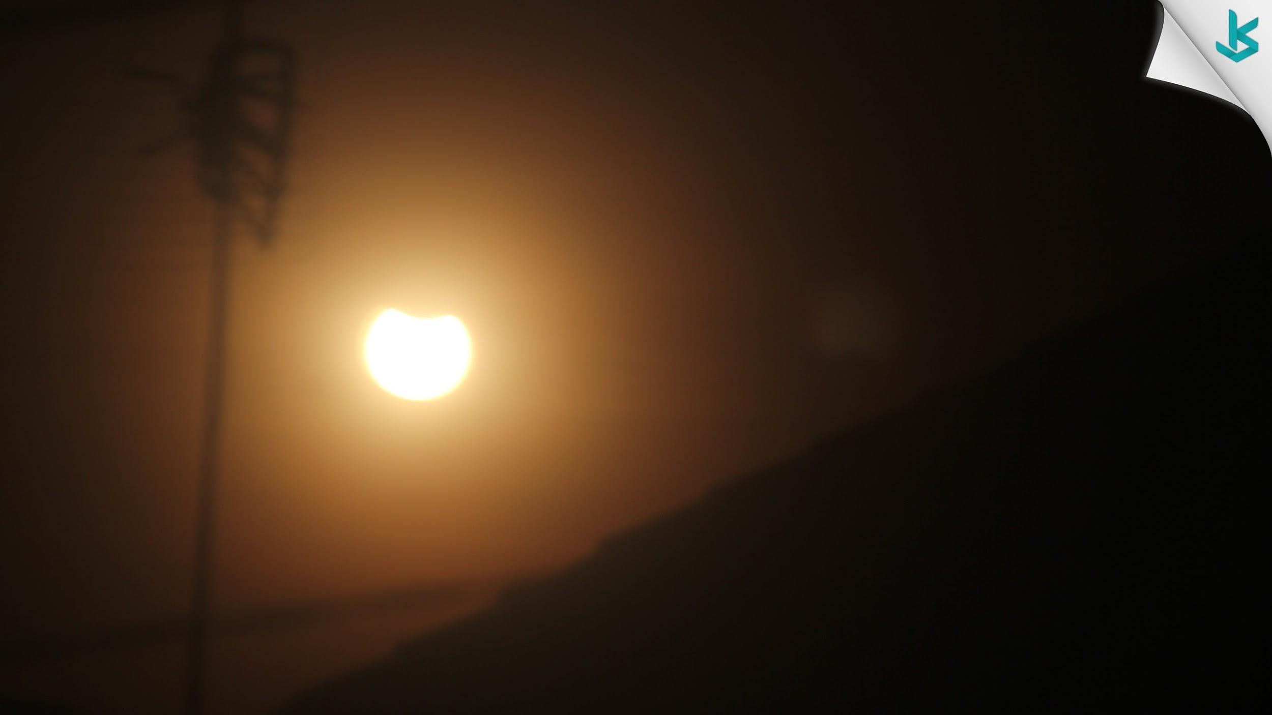 Penampakan Gerhana Matahari di Kota Serang - Banten 09 Maret 2016
