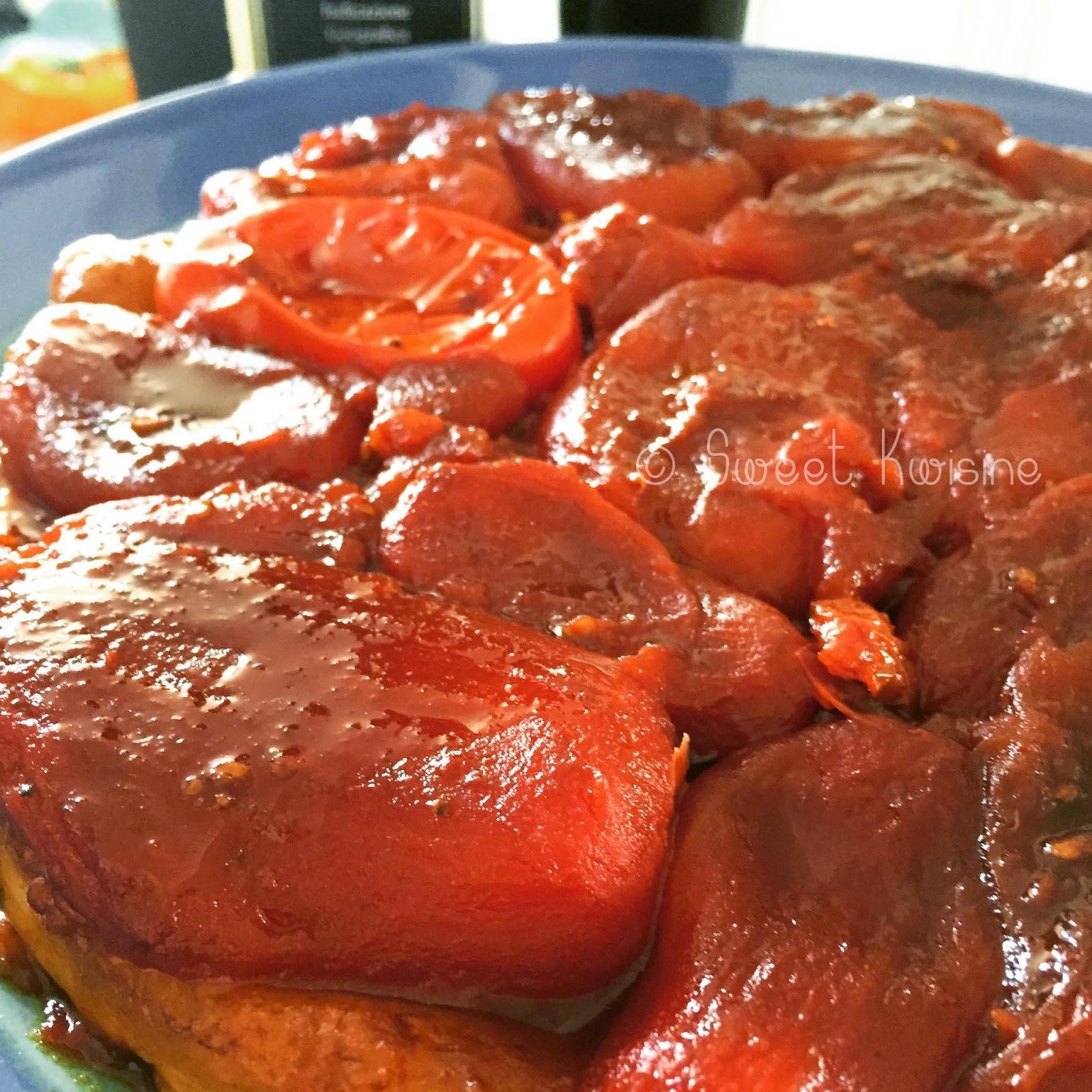 sweet kwisine, tarte, tatin, tomate, tomato, martinique, tomate séchées, thym, végétarien, cuisine végétarienne