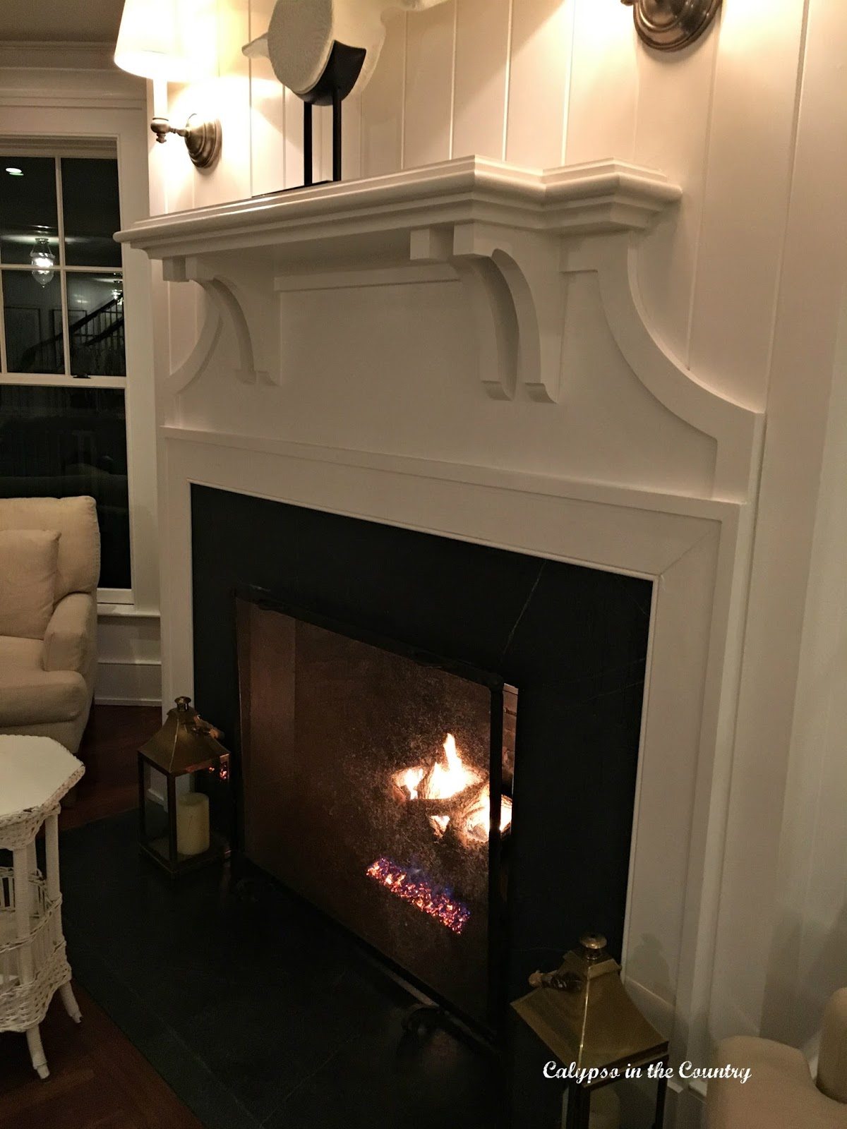 Fireplace at the Harborview