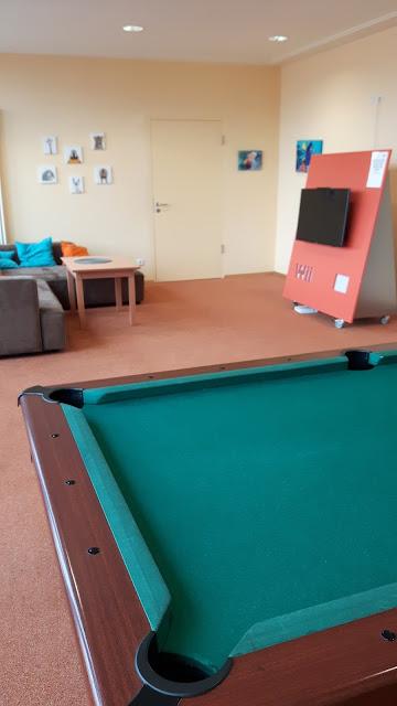 Kinderspielraum, Tischtennisplatten, Billardtisch, WII... keine Langeweile in den Jufa-Hotels