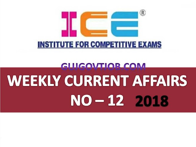 ICE Rajkot - ICE Magic Weekly Current Affairs Ank No - 12