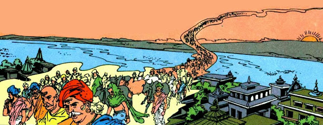Yadhavas shifting from Madura to Kusasthali