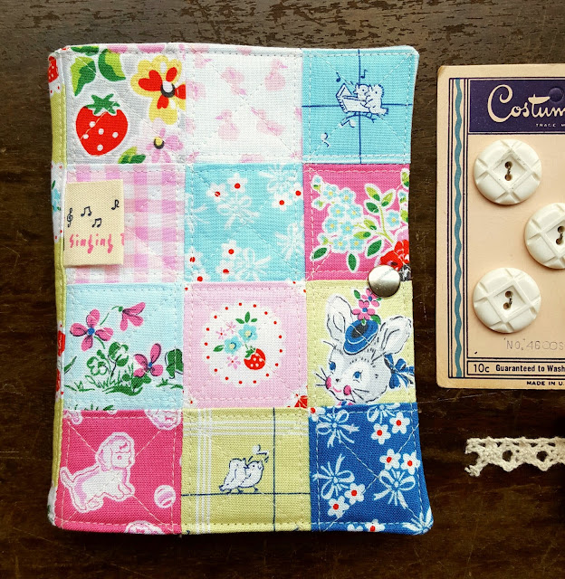Strawberry Biscuit Sewing Kit from tutorial by Heidi Staples of Fabric Mutt