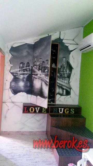 Graffiti armario ciudad