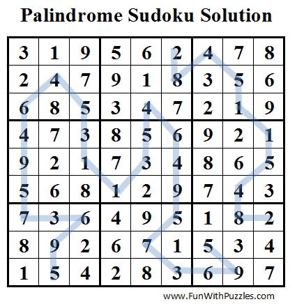 Palindrome Sudoku (Daily Sudoku League #46) Solution