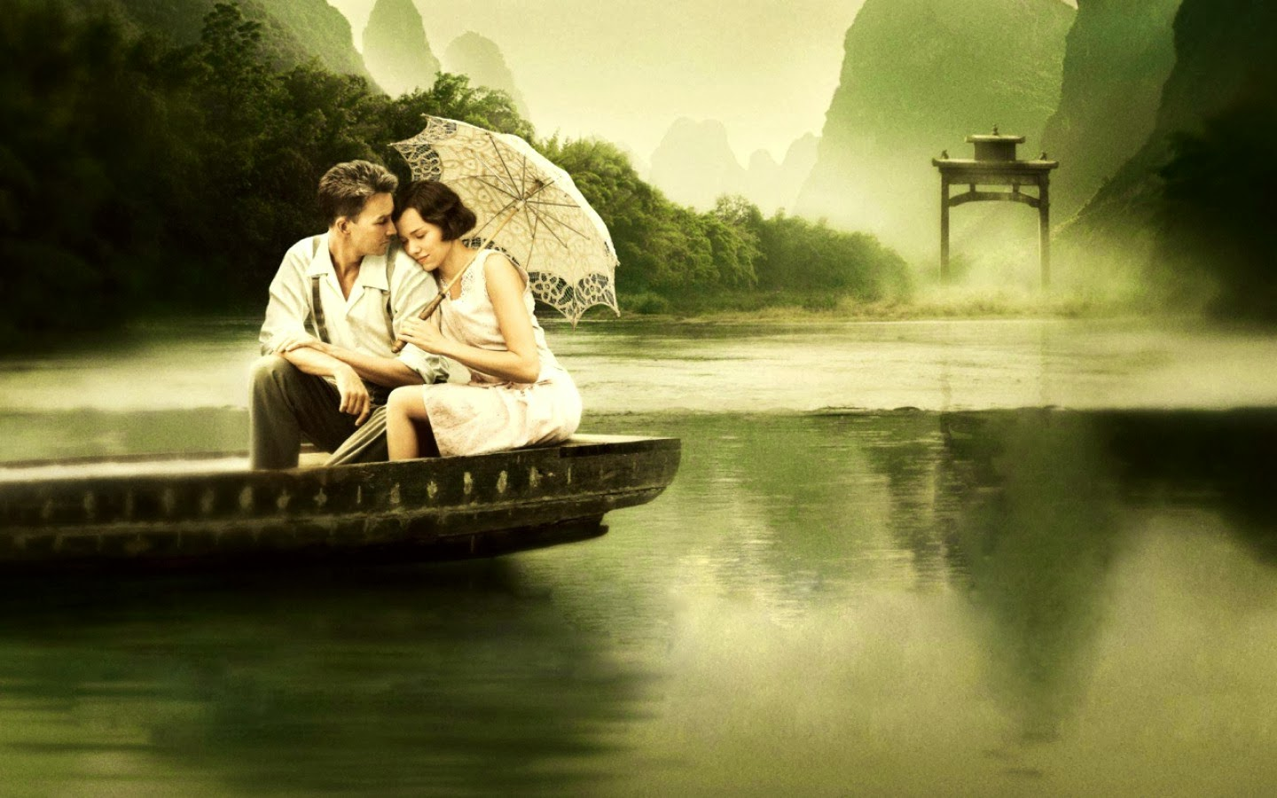 romantic couple hd wallpaper and image. couple in boat - hd
