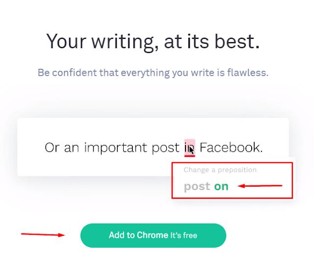 كيف يصحح  برنامج Grammarly الاخطاء بشكل تلقائى