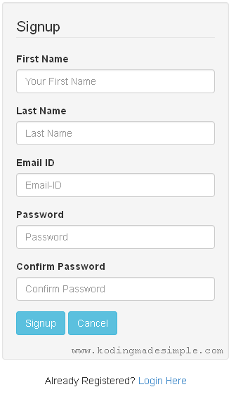 codeigniter-signup-form