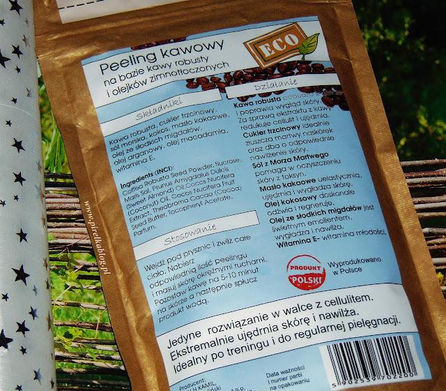 Suchy peeling kawowy do ciała 'KOKOS', Nacomi