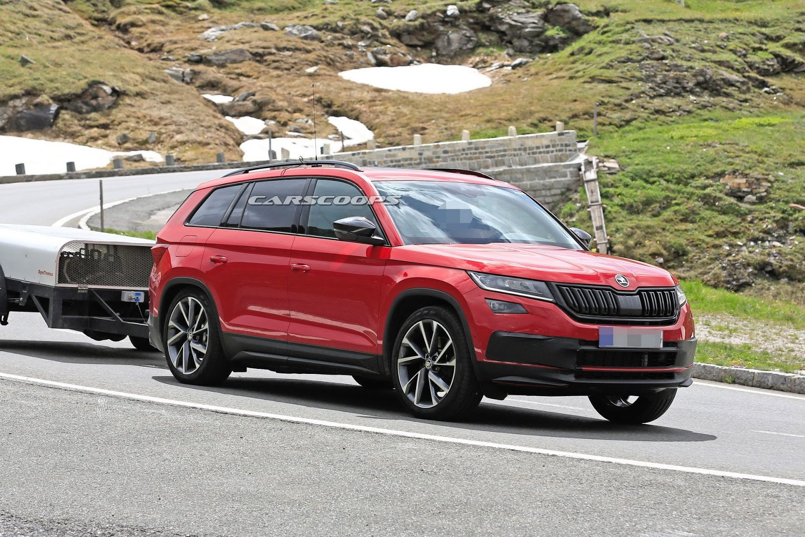 new skoda kodiaq rs spy shot ms blog. Black Bedroom Furniture Sets. Home Design Ideas