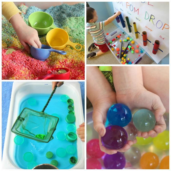 SENSORY BINS GALORE!  Tons of great ideas here!! Pin!