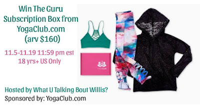 Enter the YogaClub Subscription Box Giveaway. Ends 11/19