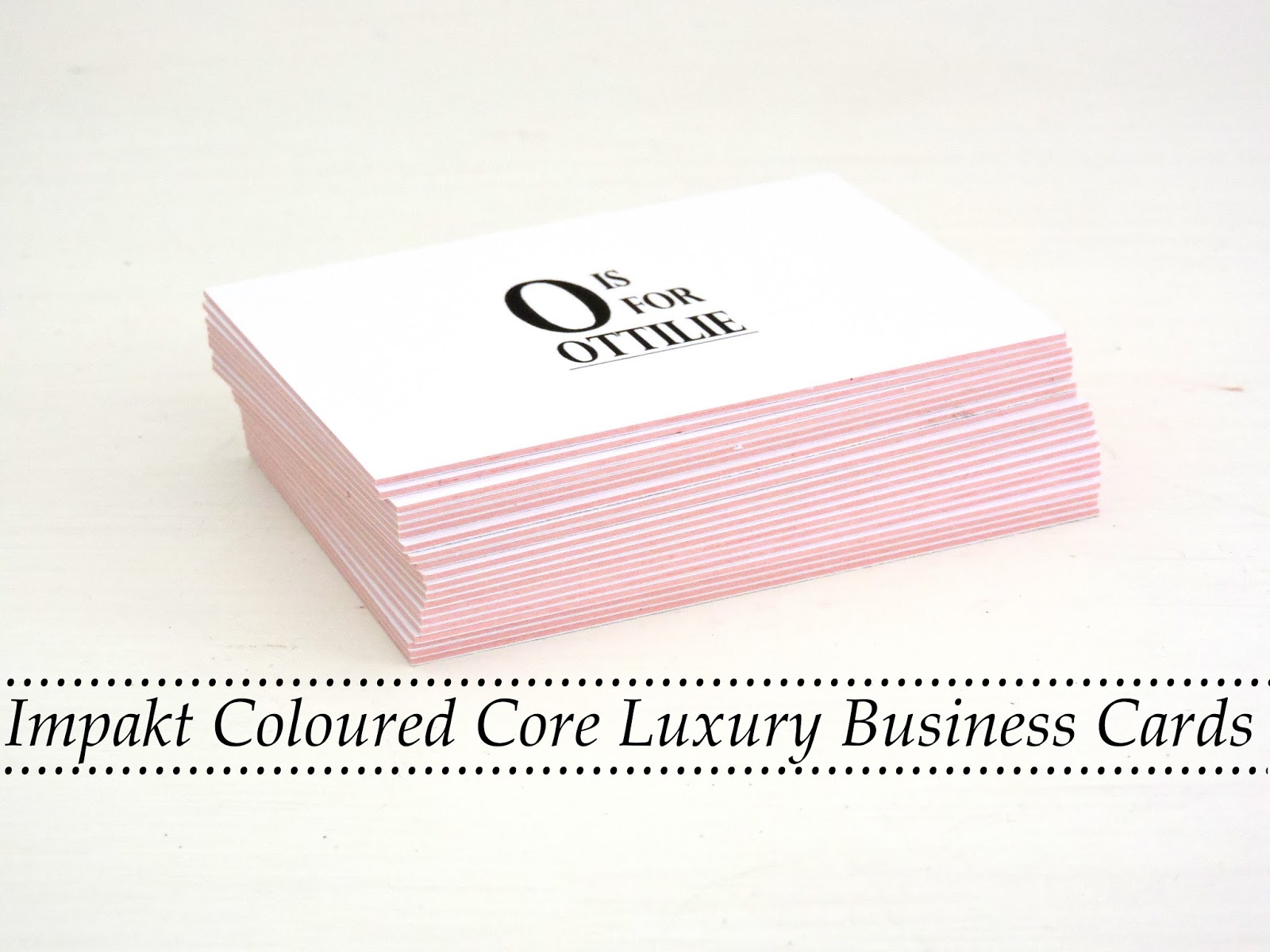 Luxury coloured core business cards o is for ottilie aura print have designed these coloured core business cards the perfect classy minimal way to get yourself noticed reheart Image collections