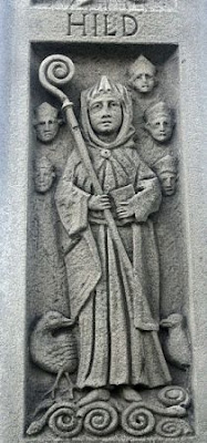 St Hilda memorial Whitby By Wilson44691 [CC0], from Wikimedia Commons