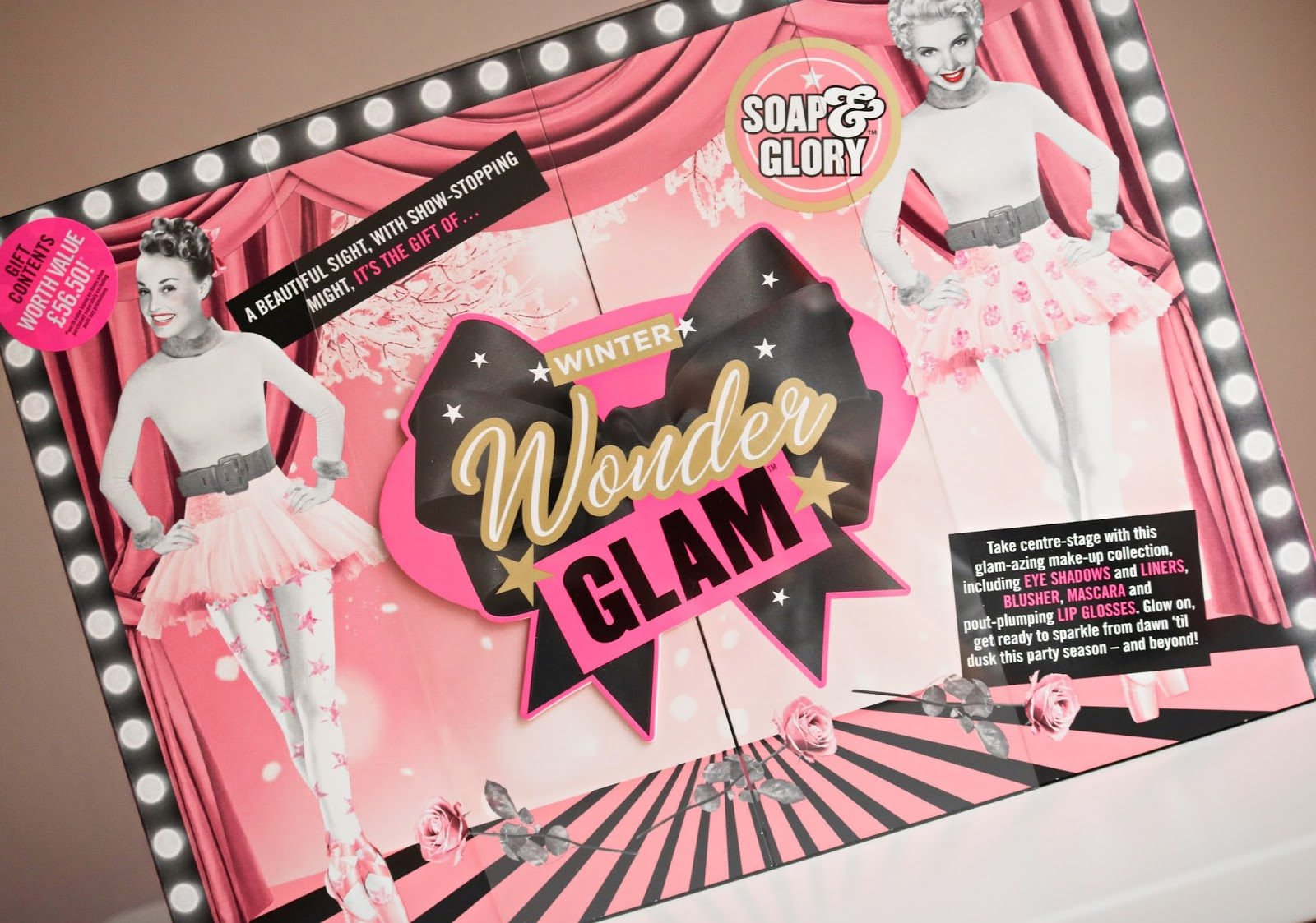 the wonderful winter wonder glam gift set from soap glory is available at boots now where it will cost 25 for a very limited time so be quick and dont