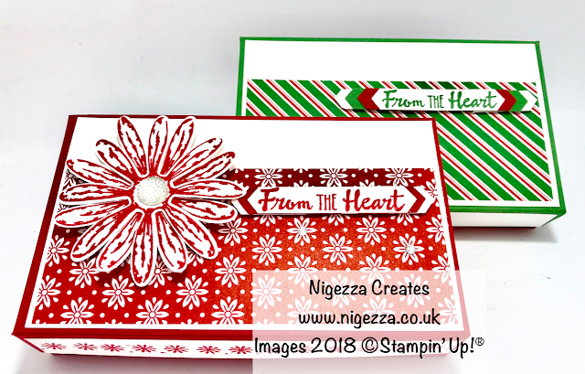 Craft Fair Gift Box for Narrow Note Cards Using Dashing Along DSP