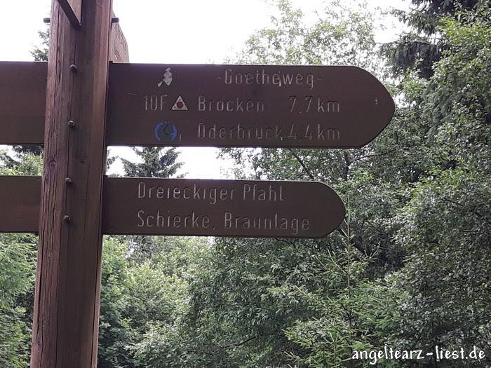 Auf den Weg auf den Brocke im Harz