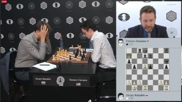 Le duel décisif entre Sergey Karjakin et Fabiano Caruana dans ce tournoi d'échecs des candidats - Photo © Chess & Strategy