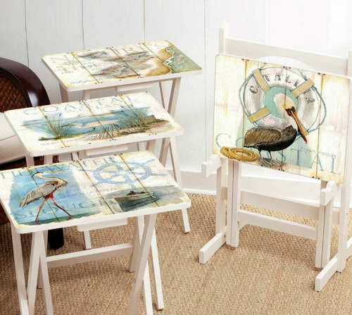 Coastal Tray Tables