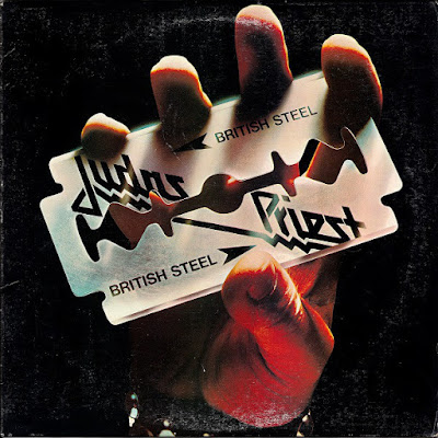 British Steel... Judas Priest 1980. Look at the wear from the album... dont'cha fuckin' miss that shit!!