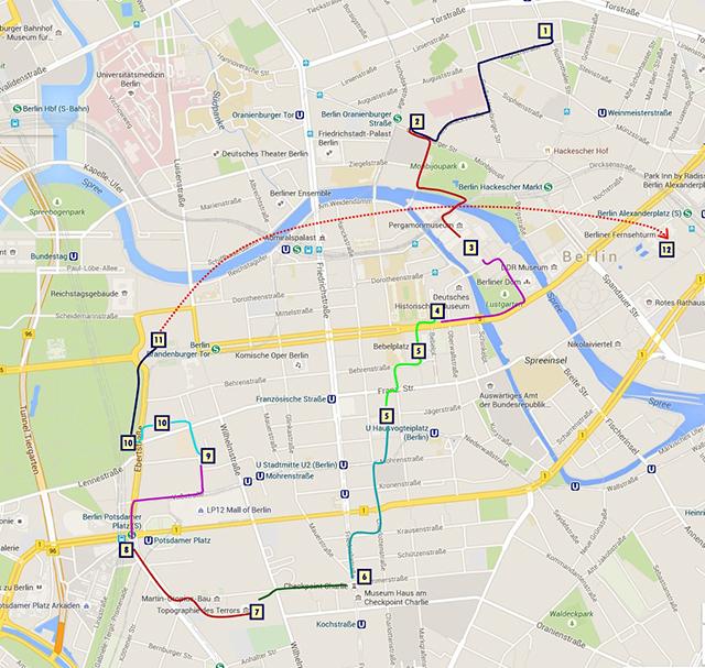 Ruta por el centro de Berlín