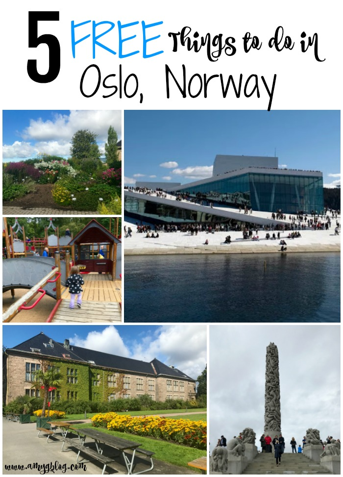 Oslo, Norway is one of the most beautiful big cities I've ever visited. There are gardens and parks throughout the city to see and explore. Before your trip, be sure to look at these top 5 FREE things to do in Oslo, Norway as well as some other inexpensive and fun sites to see. #visitnorway #oslonorway #travelonabudget #budgettravel #scandinavia