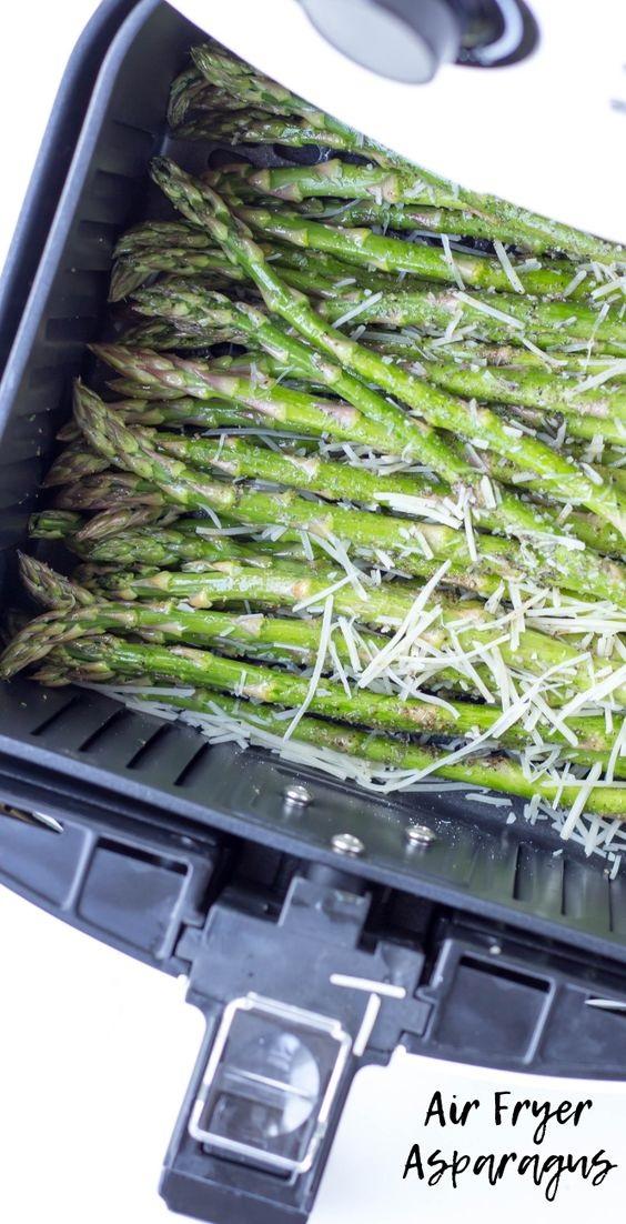 Air Fryer Garlic Parmesan Asparagus