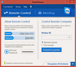 Install TeamViewer from the JAMB E-Brochure