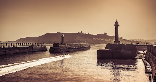 Whitby harbour from a collection