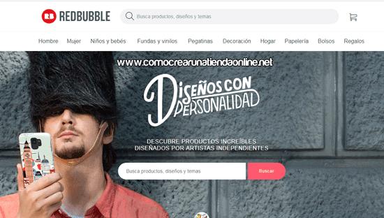 Como crear una tienda en Redbubble