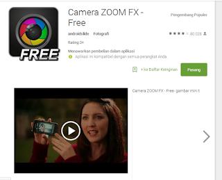 Kamera Zoom FX memiliki banyak mode pemotretan dan menawarkan satu set aplikasi foto grafi yang kaya fitur dan dapat dioprasikan secara manual saat memotret.
