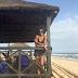 Beach baby!Agbani Darego  ambaye ni Former Miss World