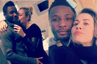 Mikel Obi and his wife, Olga Diyachenko