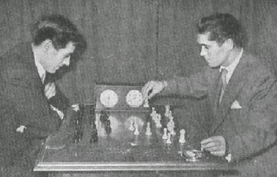 Partida de ajedrez Rubio vs. Gete en el Torneo del Real Madrid 1956