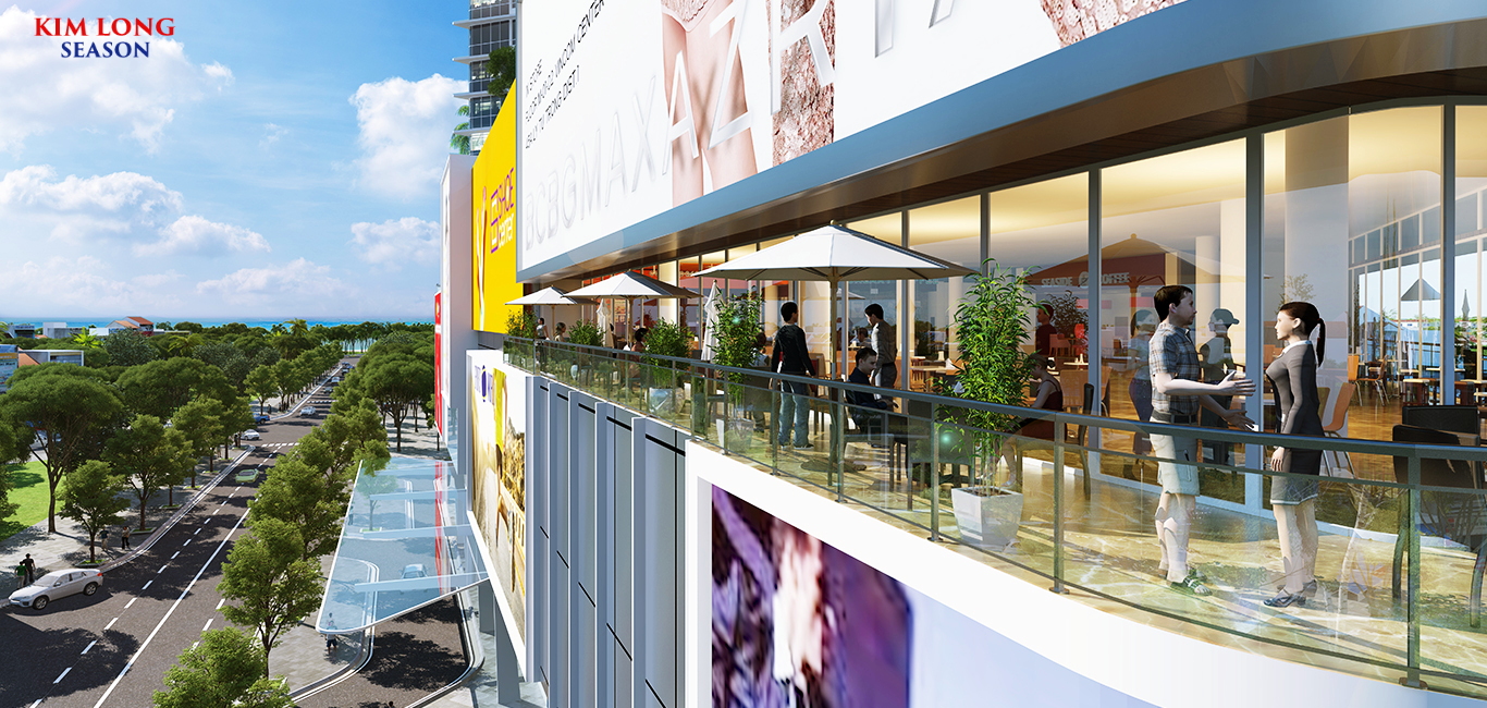 Trung tâm thương mại của dự án condotel Kim Long Season