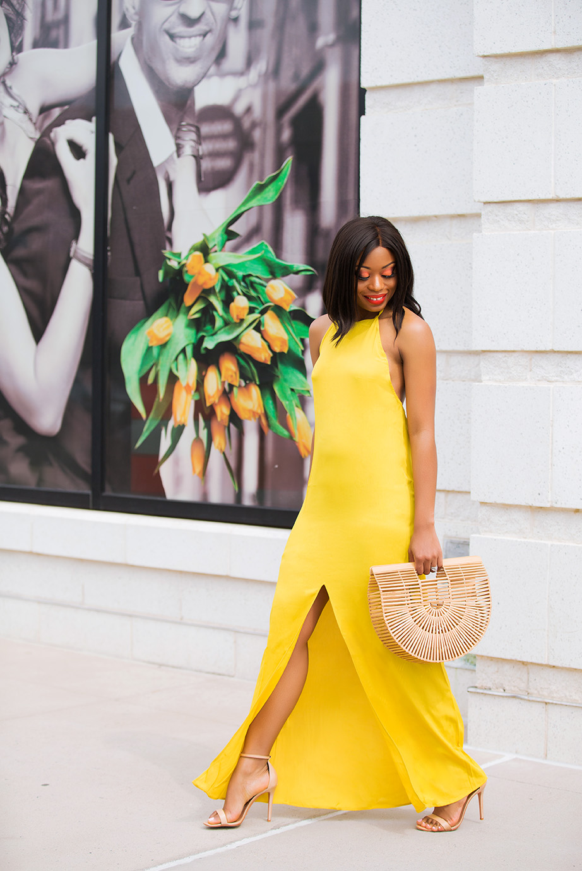 maxi dress, yellow dress, www.jadore-fashion.com