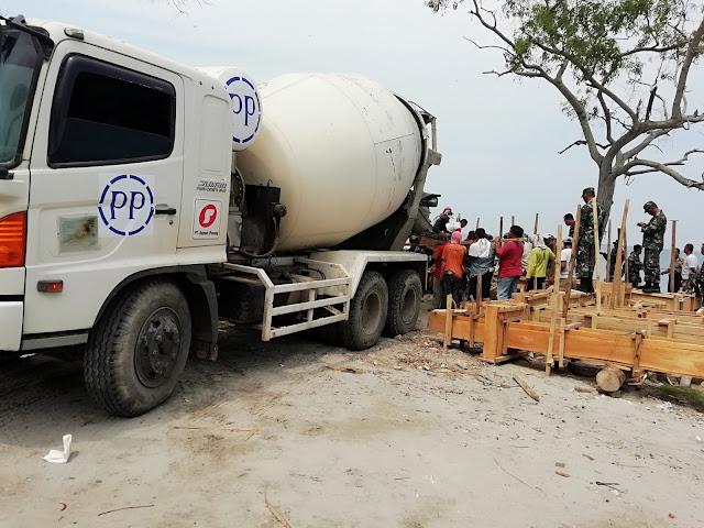PT. PP (persero) Bantu Perbaiki Dermaga Canti Rajabasa