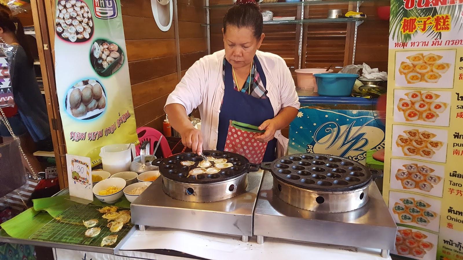 泰國四方水上市場-煎蛋