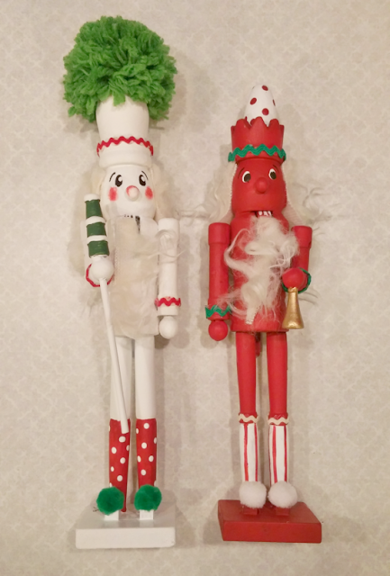 Make some ugly Dollar Store nutcrackers over into whimsical little soldiers!