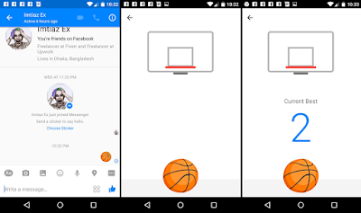 Facebook messenger trick basketball