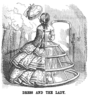 """Dress and the Lady"", satire from Punch Aug 23, 1856"